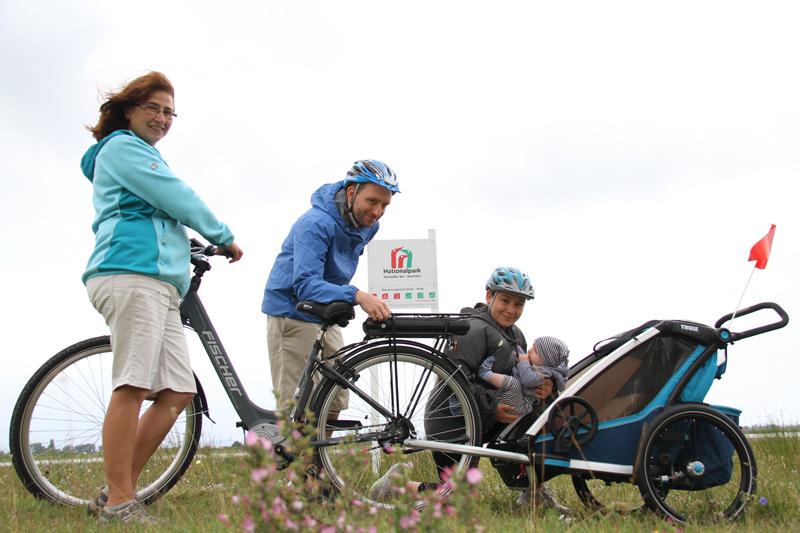 Radtour mit Kinderanhänger