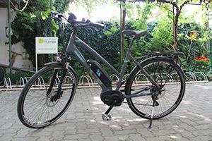 E-Bike Unisex mit Trapezrahmen